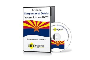 Arizona Registered Voters List by Congressional District - Standard Unenhanced Version