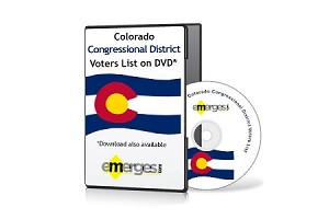 Colorado Registered Voters List by Congressional District - Standard Unenhanced Version