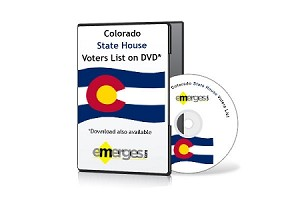 Colorado Registered Voters List by State House of Representatives - Standard Unenhanced Version