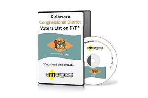 Delaware Registered Voters List by Congressional District - Standard Unenhanced Version