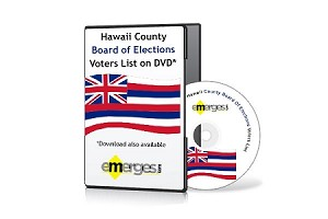 Hawaii Registered Voters List by County - Standard Unenhanced Version