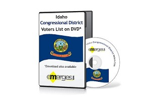 Idaho Registered Voters List by Congressional District - Standard Unenhanced Version