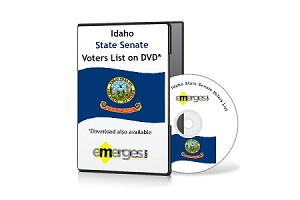 Idaho Registered Voters List by State Senate - Standard Unenhanced Version
