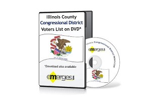 Illinois Registered Voters List by Congressional District - Standard Unenhanced Version
