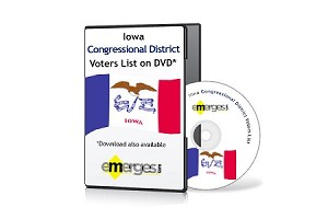 Iowa  Registered Voters List by Congressional District - Standard Unenhanced Version