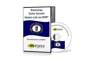 Kentucky Registered Voters List by State Senate - Standard Unenhanced Version