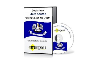 Louisiana Registered Voters List by State Senate - Standard Unenhanced Version