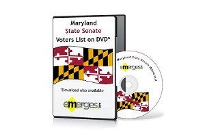 Maryland Registered Voters List by State Senate - Standard Unenhanced Version
