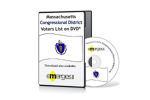 Massachusetts Registered Voters List by Congressional District - Standard Unenhanced Version