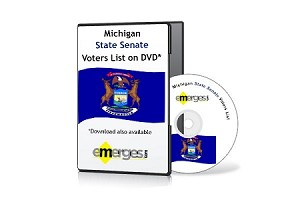 Michigan Registered Voters List by State Senate - Standard Unenhanced Version