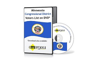 Minnesota Registered Voters List by Congressional District - Standard Unenhanced Version