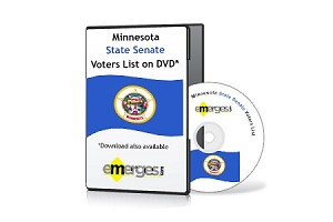 Minnesota Registered Voters List by State Senate - Standard Unenhanced Version
