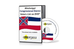 Mississippi Registered Voters List by Congressional District - Standard Unenhanced Version