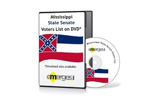 Mississippi Registered Voters List by State Senate - Standard Unenhanced Version
