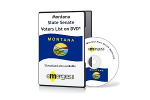 Montana Registered Voters List by State Senate - Standard Unenhanced Version