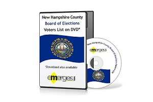 New Hampshire Registered Voters List by County - Standard Unenhanced Version