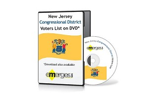 New Jersey Registered Voters List by Congressional District - Standard Unenhanced Version