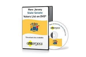 New Jersey Registered Voters List by State Senate - Standard Unenhanced Version