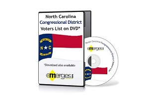 North Carolina Registered Voters List by Congressional District - Standard Unenhanced Version