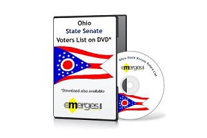 Ohio Registered Voters List by State Senate - Standard Unenhanced Version