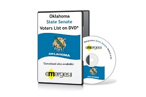 Oklahoma Registered Voters List by State Senate - Standard Unenhanced Version