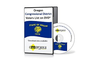 Oregon Registered Voters List by Congressional District - Standard Unenhanced Version