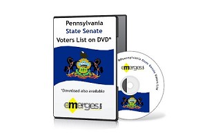 Pennsylvania Registered Voters List by State Senate - Standard Unenhanced Version