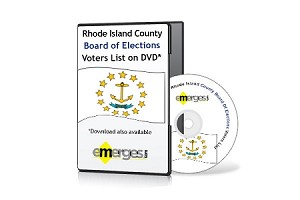 Rhode Island Registered Voters List by County - Standard Unenhanced Version