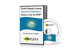 South Dakota Registered Voters List by County - Standard Unenhanced Version