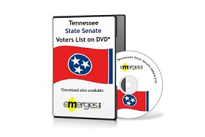 Tennessee Registered Voters List by State Senate - Standard Unenhanced Version