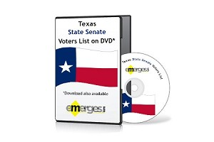 Texas Registered Voters List by State Senate - Standard Unenhanced Version