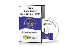 Utah Registered Voters List by State Senate - Standard Unenhanced Version