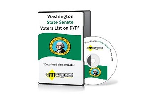Washington Registered Voters List by State Senate - Standard Unenhanced Version
